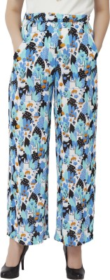 Chumbak Regular Fit Women's Blue Trousers