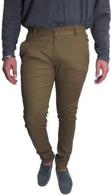 Roadcrack Slim Fit Men,s Beige Trousers