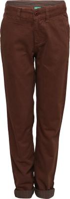 Slub Junior By Inmark Regular Fit Boy's Brown Trousers