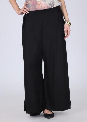 Nikhaar Women's Black Trousers