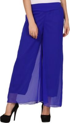 Pretty Angel Regular Fit Women's Blue Trousers