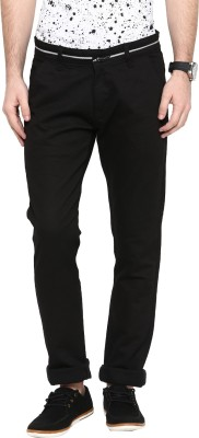 Rodamo Slim Fit Men's Black Trousers