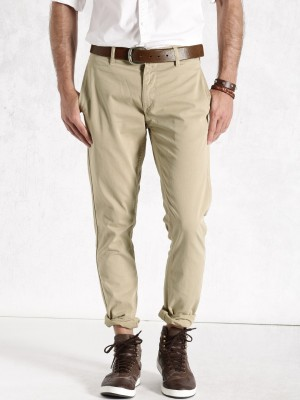 Roadster Regular Fit Men's Beige Trousers
