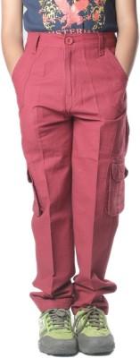 SETVEL Slim Fit Boy's Maroon Trousers