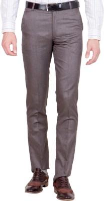 Shaurya-F Regular Fit Men's Brown Trousers