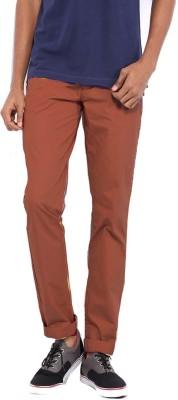 Good Karma Slim Fit Men's Maroon Trousers
