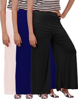 Ace Regular Fit Women's Black, Blue, White Trousers