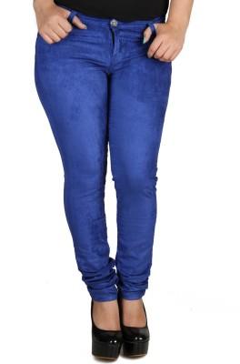 Fashion Cult Slim Fit Women,s Dark Blue Trousers