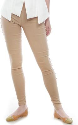 Divaat Slim Fit Women's Beige Trousers