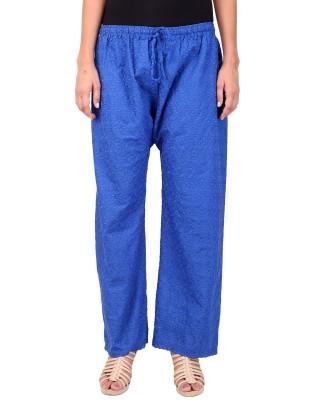 Saiarisha Regular Fit Women's Blue Trousers