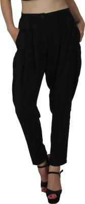 Natty India Regular Fit Women's Black Trousers