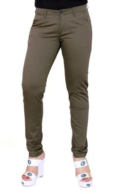 Airwalk Regular Fit Women's Green Trousers