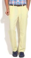 Puma Slim Fit Mens Yellow Trousers