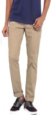 Good Karma Slim Fit Men's Beige Trousers