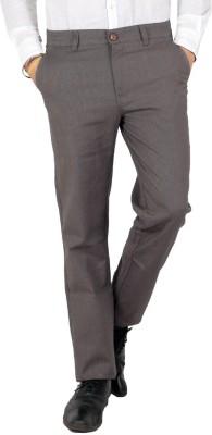 Wood Slim Fit Men's Linen Grey Trousers