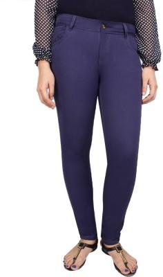 Deewa Slim Fit Women's Blue Trousers