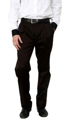 Cotton County Premium Regular Fit Men's Brown Trousers