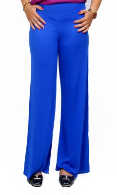 Lady in Red Regular Fit Women's Blue Trousers