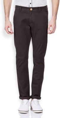 Vintage Slim Fit Men's Brown Trousers