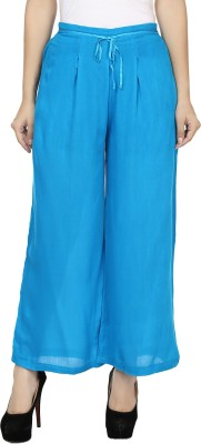 Kaaviyaz Regular Fit Women's Blue Trousers