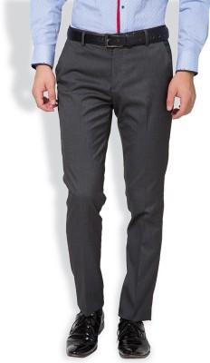 Black Coffee Slim Fit Men's Brown Trousers