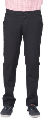 AUSSUM Regular Fit Men's Black Trousers
