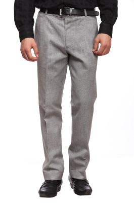 Luxurazi Slim Fit Men,s Linen Grey Trousers