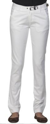Ixia Slim Fit Women's White Trousers