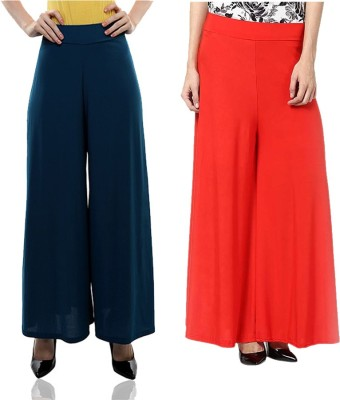 Komal Trading Co Regular Fit Women's Blue, Red Trousers