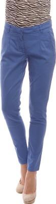 Amari West By INMARK Slim Fit Women's Blue Trousers