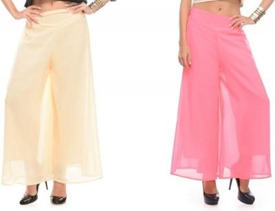 Samayra Regular Fit Women's Pink, Beige Trousers