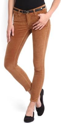 Tokyo Talkies Skinny Fit Women's Brown Trousers