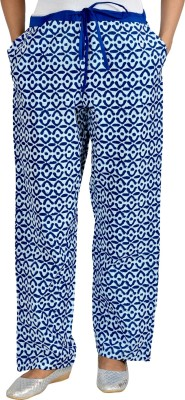 Jhoomar Regular Fit Women's Blue Trousers at flipkart