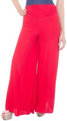 fashionmandi Regular Fit Women's Red Trousers