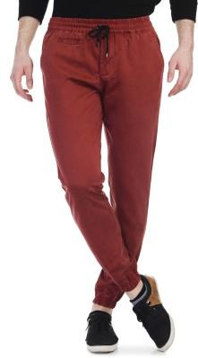 Blimey Slim Fit Men's Maroon Trousers