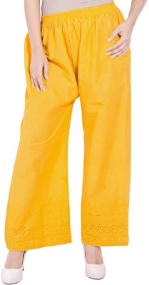 Komal Trading Co Regular Fit Women's Yellow Trousers