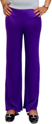 Lady in Red Regular Fit Women's Purple Trousers