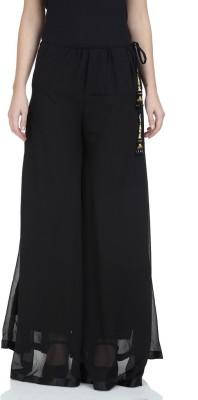 Stri Regular Fit Women's Black Trousers