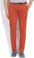 Parx Slim Fit Mens Orange Trousers