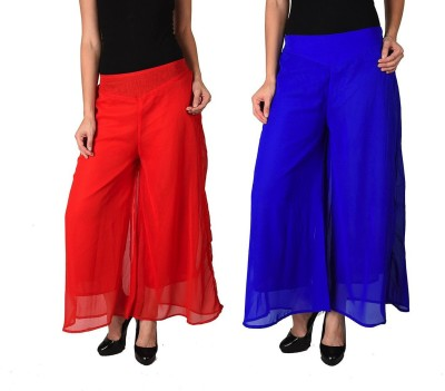 Kyron Regular Fit Women,s Blue, Red Trousers