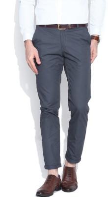 Hubberholme Slim Fit Men's Grey Trousers