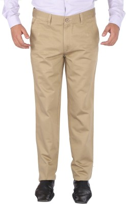 SAVINO Regular Fit Men's Beige Trousers