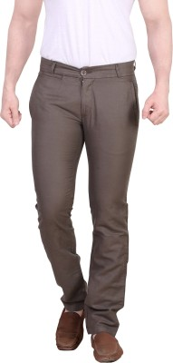 King & I Slim Fit Men's Grey Trousers