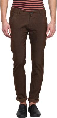 Rodamo Slim Fit Men's Green Trousers