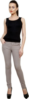 Rajni Collection Slim Fit Women's Grey Trousers