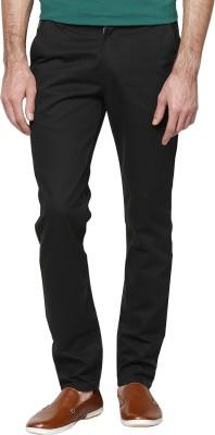 Hubberholme Slim Fit Men's Black Trousers