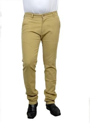 Risingfeathertofly Slim Fit Men's Green Trousers