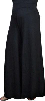 BikeNwear Regular Fit Women's Black Trousers