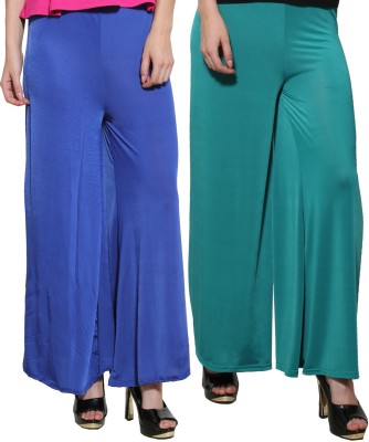 Both11 Regular Fit Womens Green, Blue Trousers