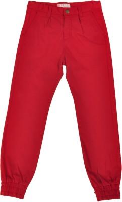 NOQNOQ Regular Fit Boy's Red Trousers